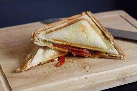 orangechic: HOW TO TOASTIE #foodporn #toastie #pesto #recipe #chorizo #food