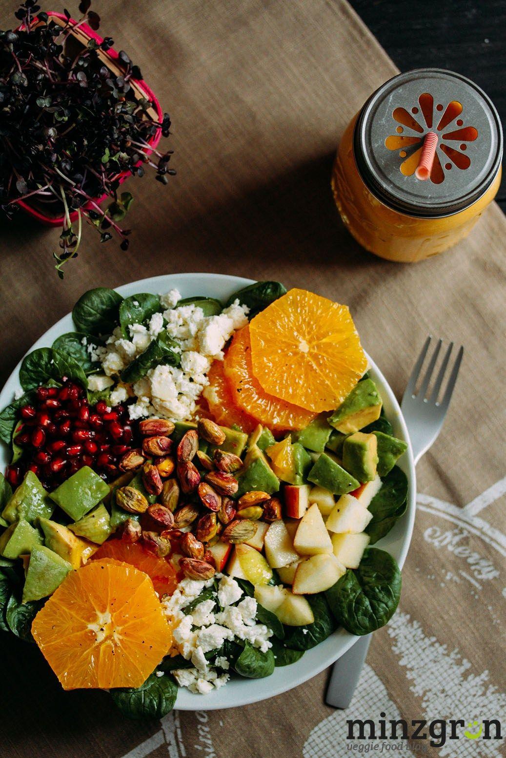 Kickstarter: Wintersalat mit Granatapfel und Orange | minzgrün