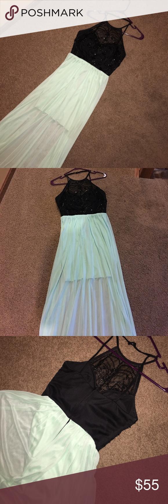 Blackgreen prom dress black tops prom and black