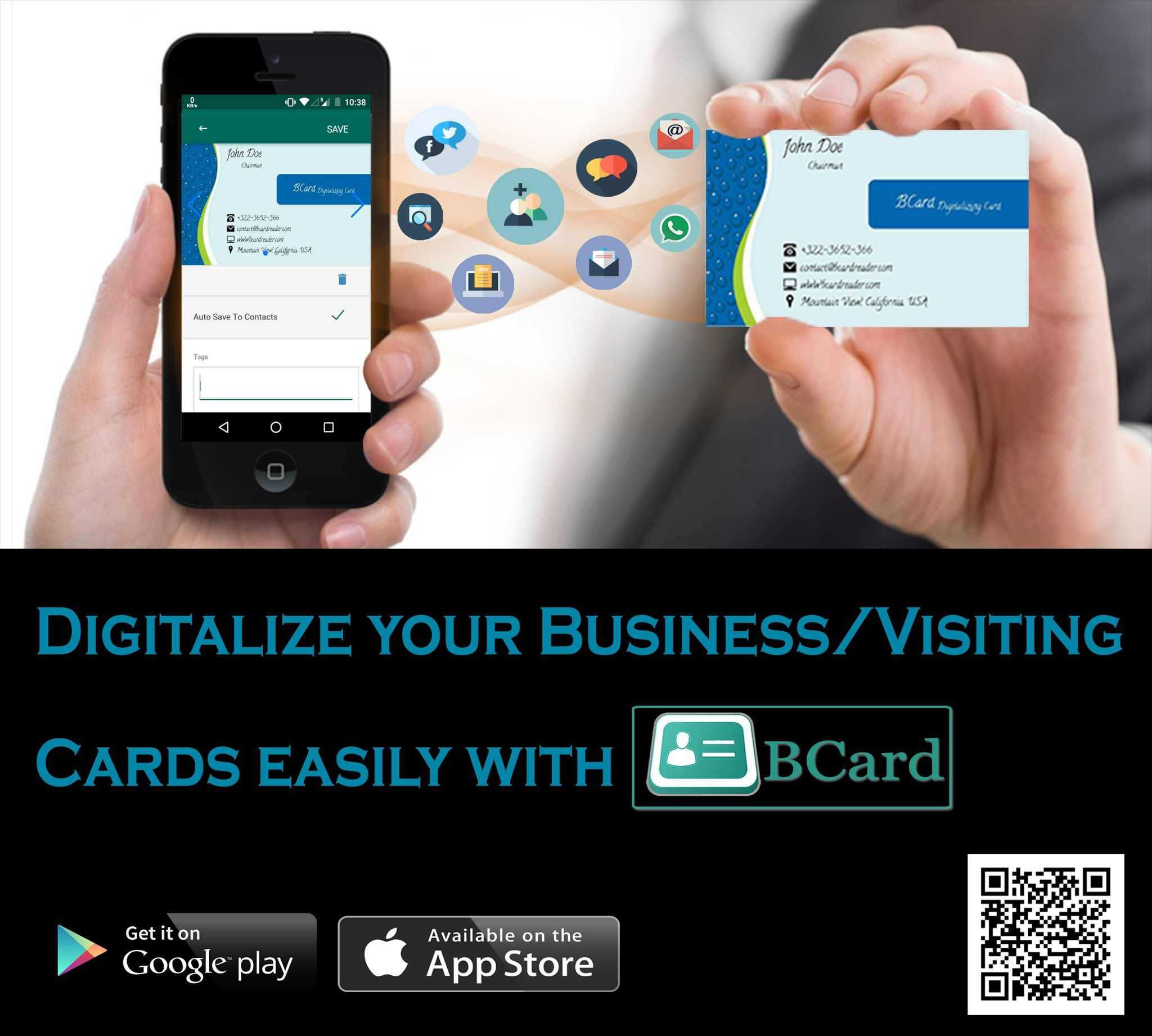 It is an app which digitize paper Business Card digitally, you have ...