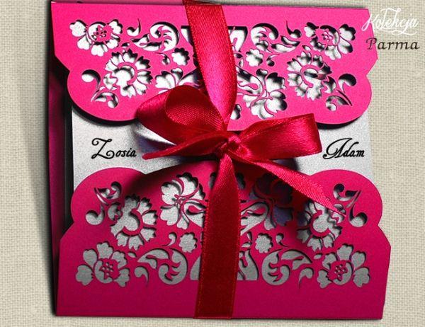 Malinowe Zaproszenia Slubne Laserowe 3133157164 Allegro Wedding Invitation Stationary Wedding Stationery Wedding Invitation Cards