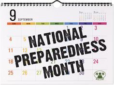 "National Preparedness Month! Welcome September in with a month-long focus on Emergency Preparedness for you and your family @ <a href=""http://Momwithaprep.com"" rel=""nofollow"" target=""_blank"">Momwithaprep.com</a> <a class=""pintag searchlink"" data-query=""%23natlprep"" data-type=""hashtag"" href=""/search/?q=%23natlprep&rs=hashtag"" rel=""nofollow"" title=""#natlprep search Pinterest"">#natlprep</a> <a class=""pintag searchlink"" data-query=""%23PrepareAthon"" data-type=""hashtag""…"