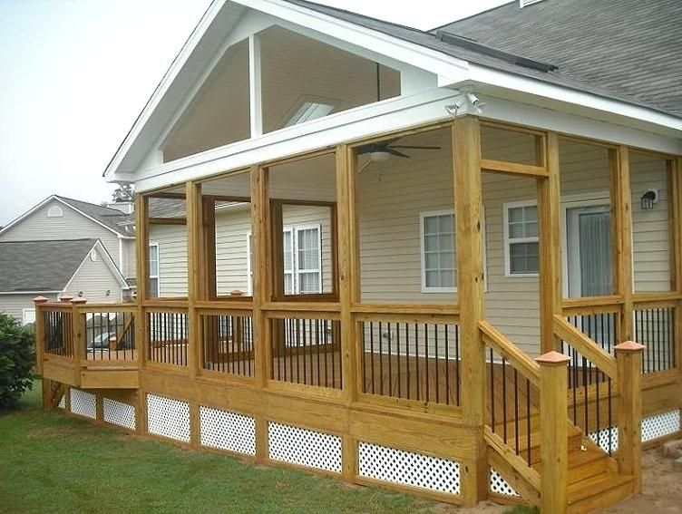 Roof Over Deck Ideas Gable Small Rooftop | Pergola with ... on Deck Over Patio Ideas id=95625