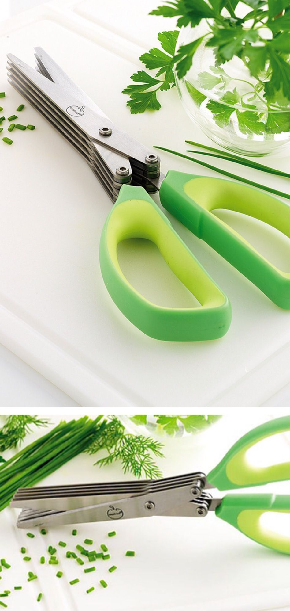 Herb Scissors // Cuts Herbs 5 Times Quicker (!)   Multiple Blades For  Herbs, Chives, Mushrooms, And More! #product_design
