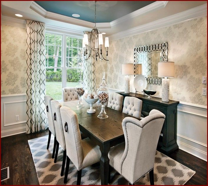 Dining Room Buffet Table Decorating Ideas