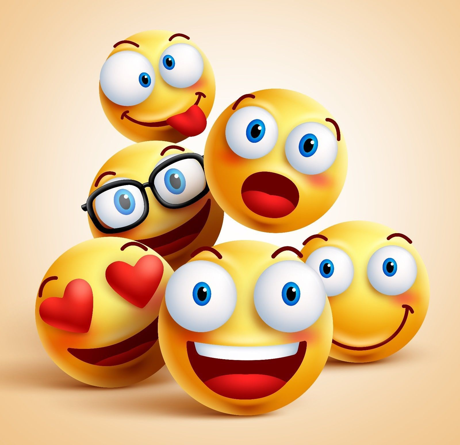 For Iphone 3 5 6 7 And 7 Plus Hard Case Smiley Unique Design Smiley Face Images Funny Facial Expressions Emoji Wallpaper