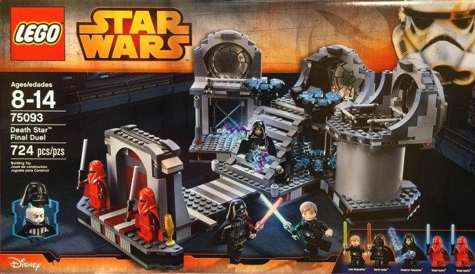 75093 DEATH STAR FINAL DUEL rotj star wars lego sealed NEW legos set darth vader