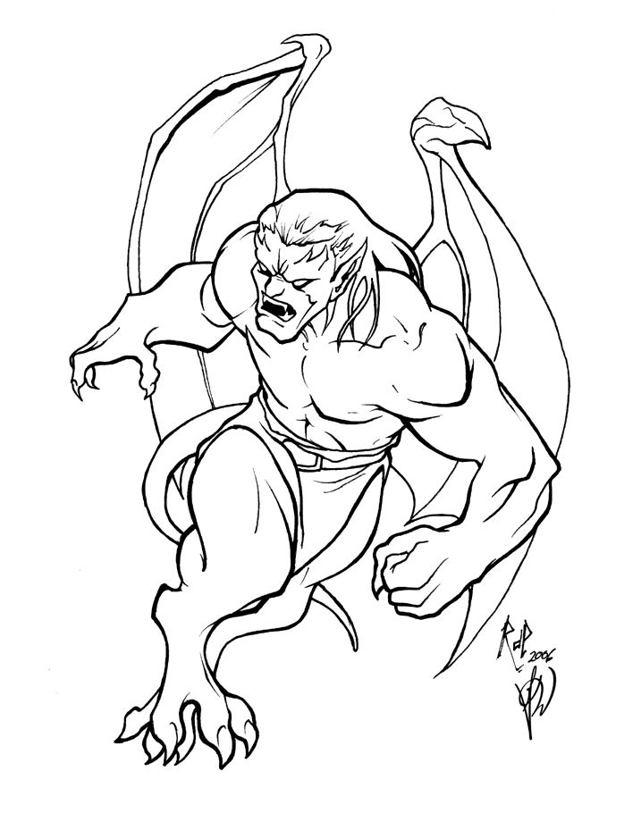 Pin Evil Gargoyle Drawings Concept By on Pinterest ...