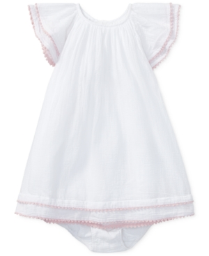 4d2f65c3aa Polo Ralph Lauren Flutter-Sleeve Cotton Dress - White 12 months ...