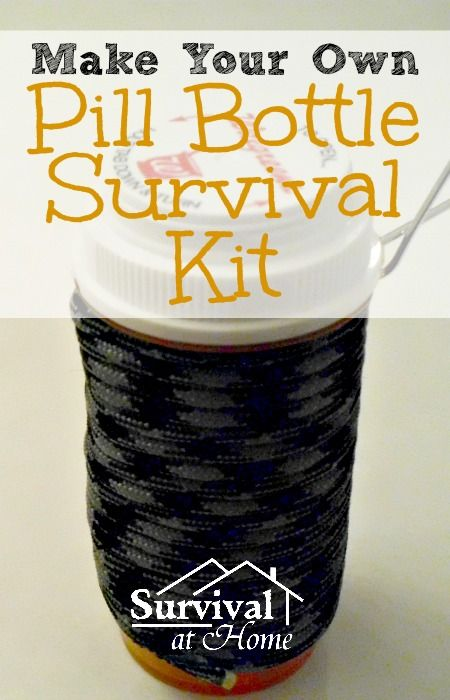 Make Your Own Pill Bottle Survival Kit #DIY, #DoItYourself, #HowTo, #MakeYourOwn, #Myo, #PillBottle, #SurvivalKit