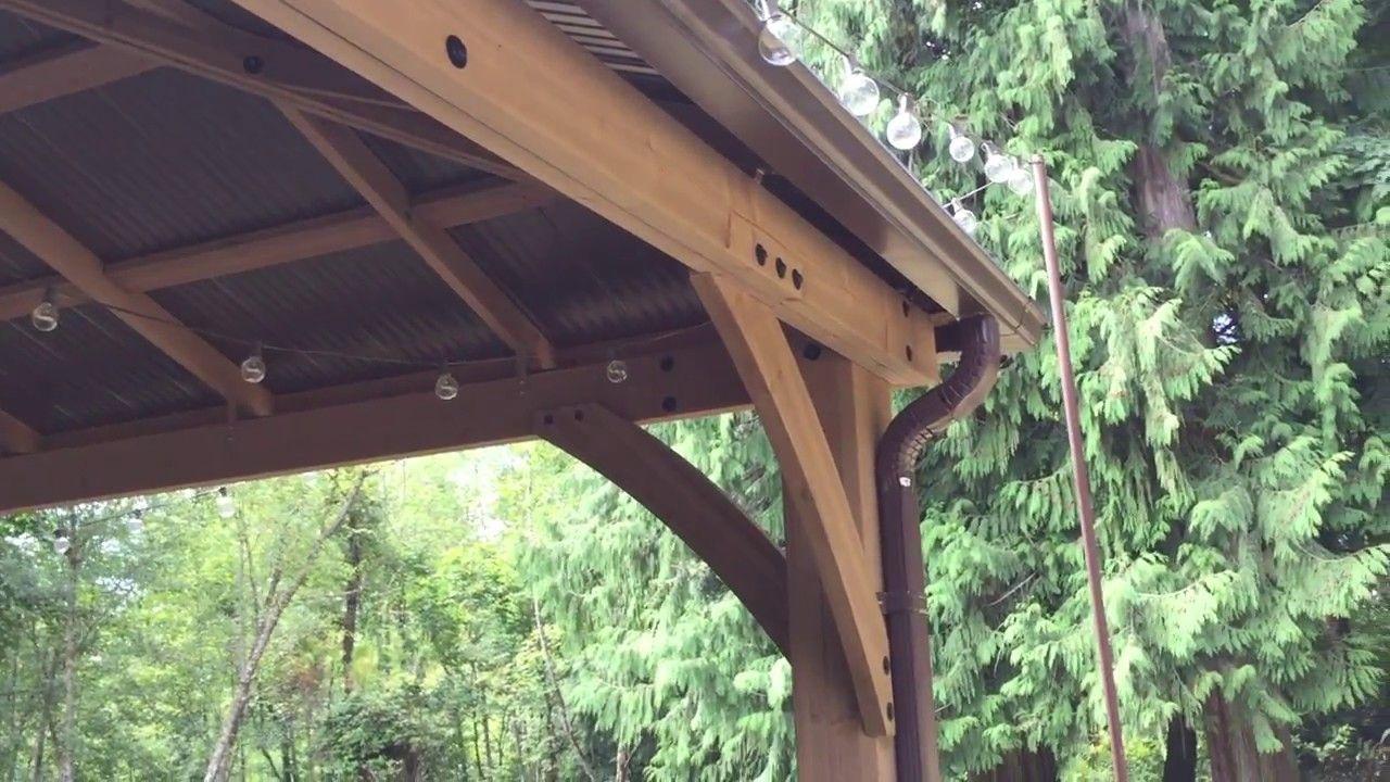 Pt 5 Costco Yardistry 12x14 Wood Gazebo Rain Gutters Gutters Gazebo Rain Gutters