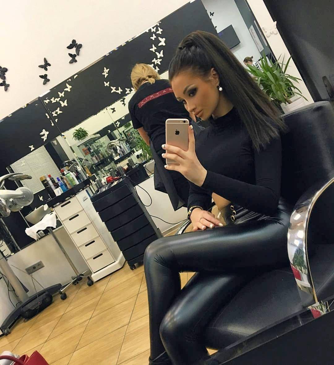 Leather Leggings Fashion On Instagram Ns Verner Leder Leggings Lederjeans Enge Hosen