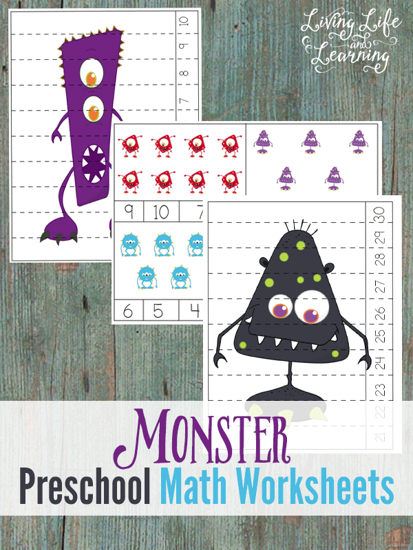 Monster Math Worksheets For Preschool Halloween Activities Preschool Preschool Math Worksheets Monster Math