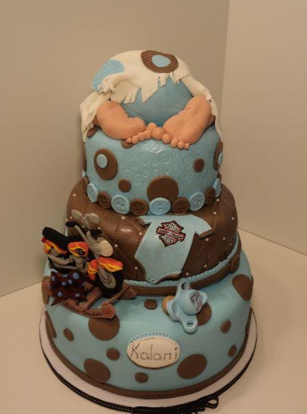 Harley Davidson Baby Shower Cake