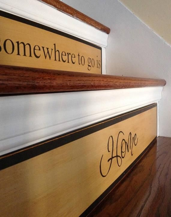 Best Primitive Style Stair Riser Family Sayings Rustic 400 x 300