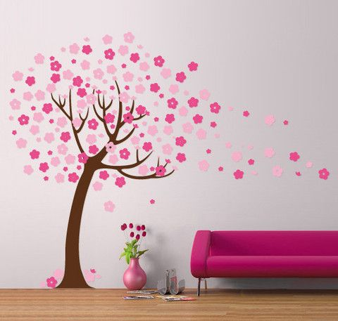 Nursery Tree Decal Removable Wall Stickers By Vinyl Impression - Nursery wall decals uk