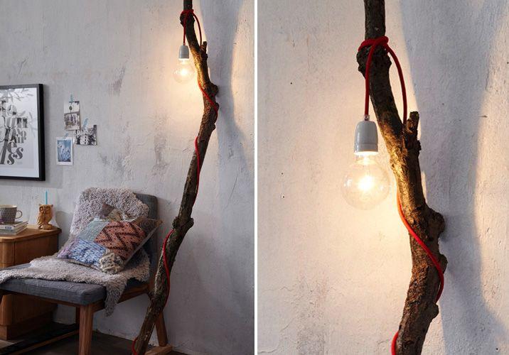 Ast Lampe, Diy Deko Ideen Und