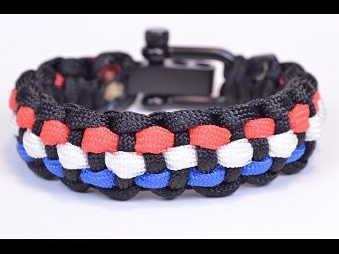 How to Add 3 Colors to the Basic Solomon Paracord Survival Bracelet , Bored? Paracord! , YouTube