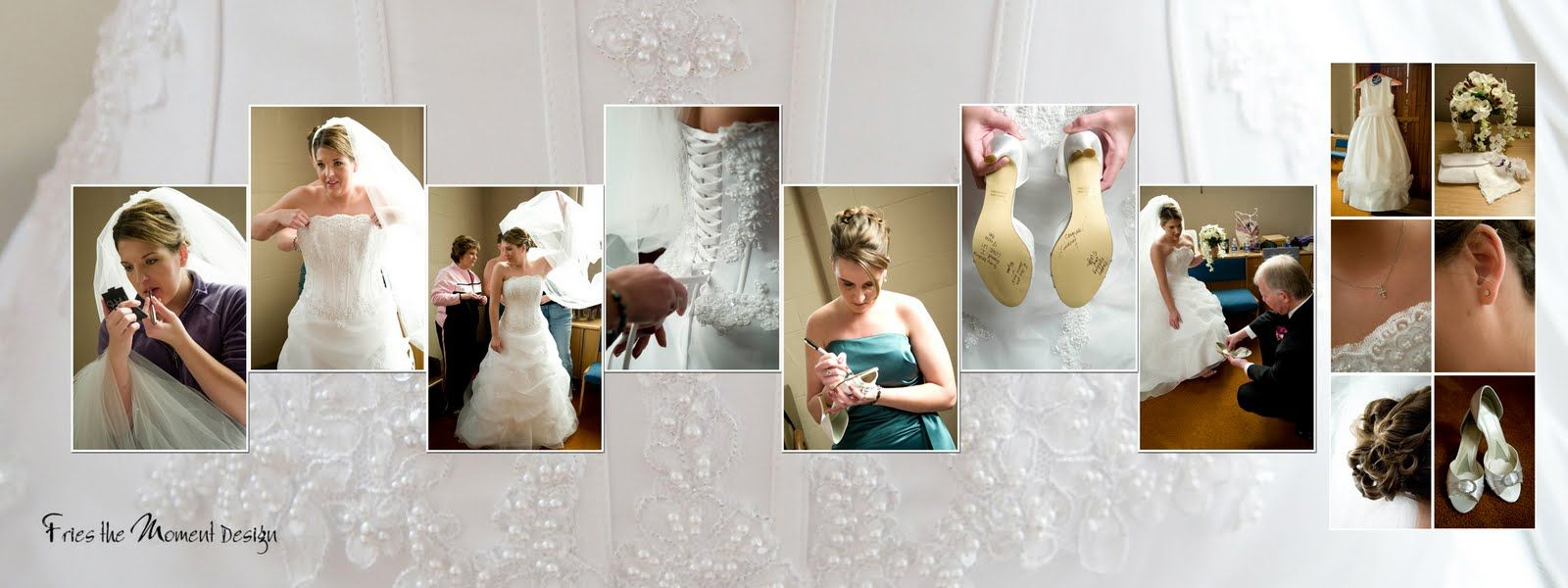 Using the dress as a background | Wedding Album | Pinterest