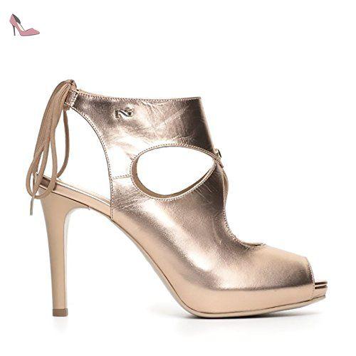 Chaussures NERO GIARDINI Femme NERO Cuir naturel P717371DE-100 az0k2C8Ar