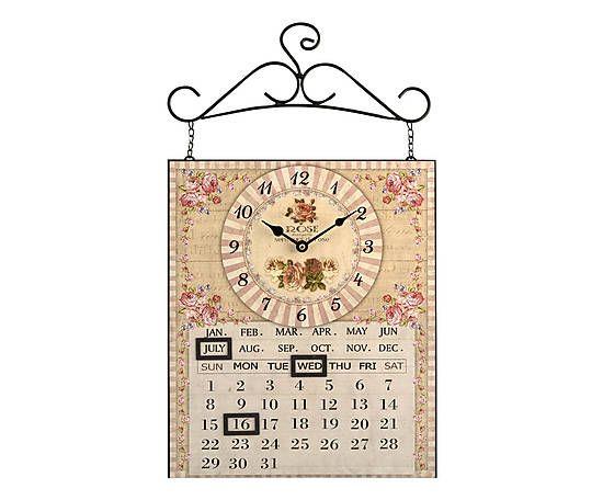 Orologio da parete in metallo con calendario magnetico for Idee per orologio da parete