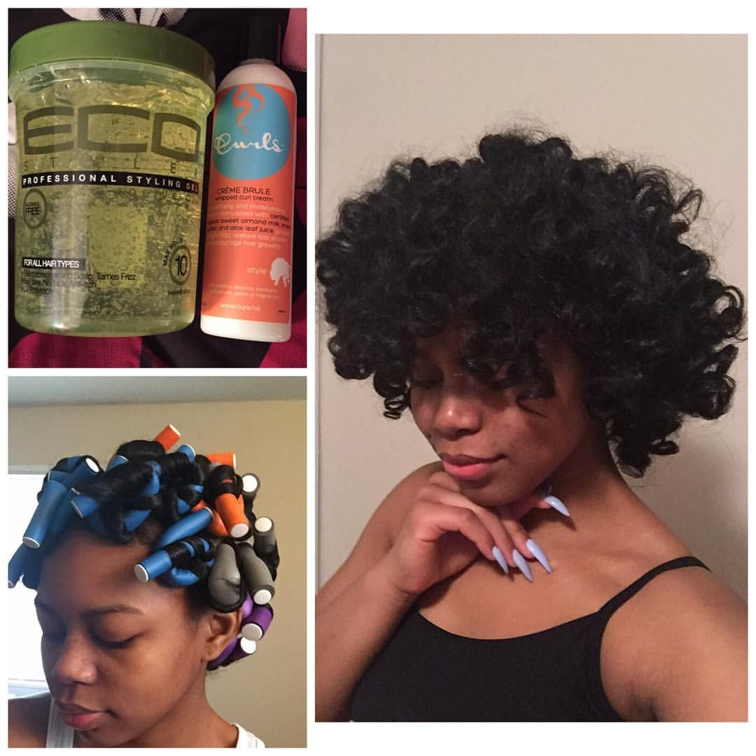 First time flexi roding my natural hair...Products used