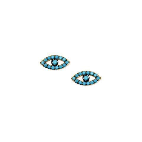 Sterling Silver Liberty Turq Eye Earrings