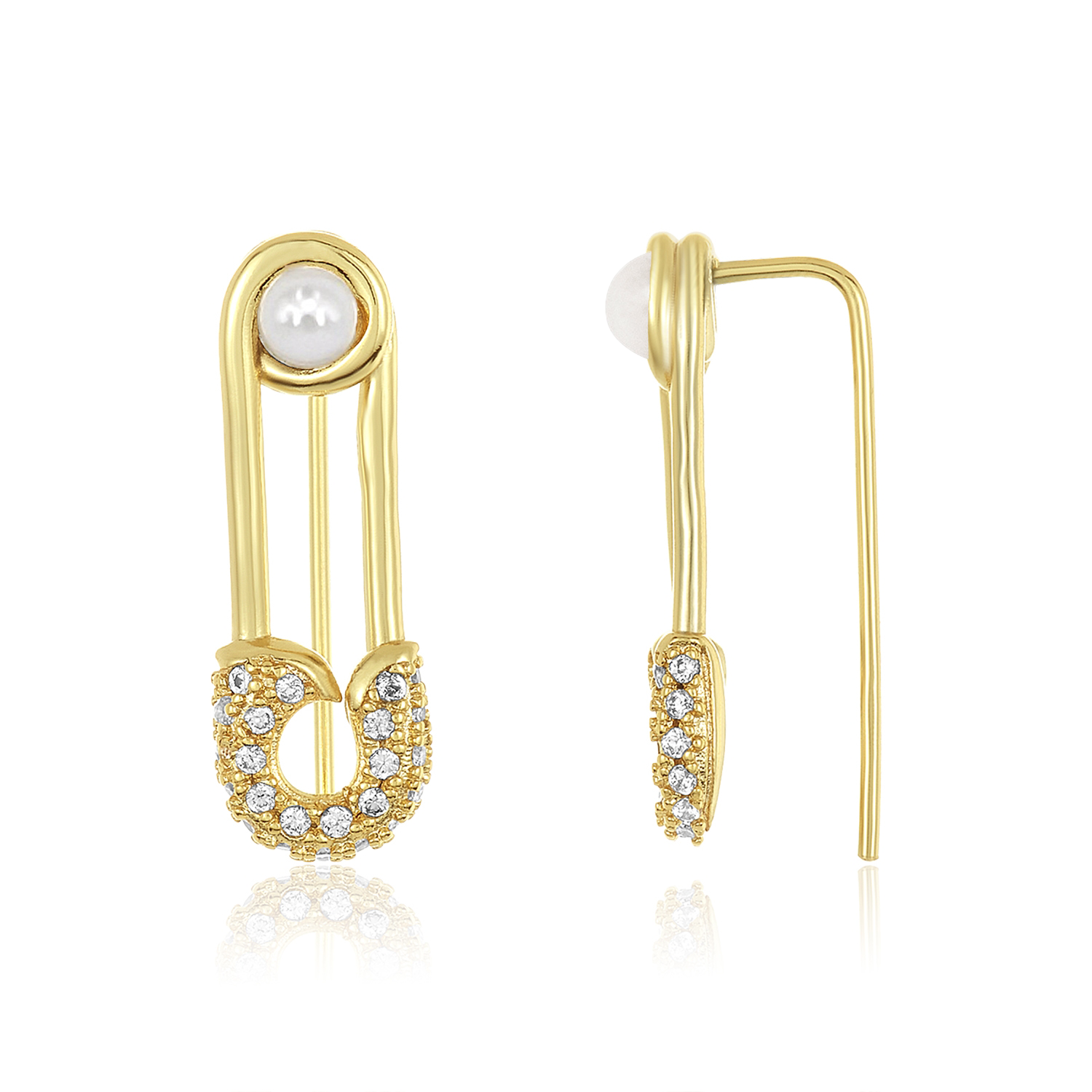 Safety Pin Ear Crawler Earring in 2020 Gold bridesmaid