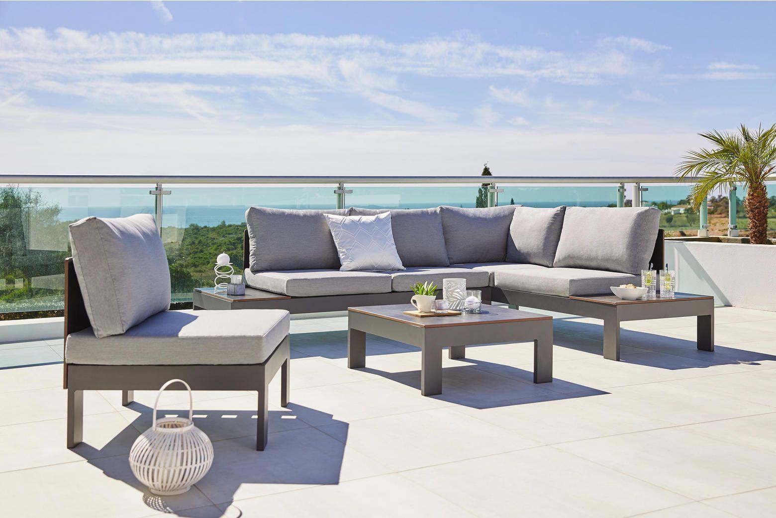 Moderne Gartenlounge Aus Metall Mit Polsterung Lounge Garnitur Garten Lounge Lounge