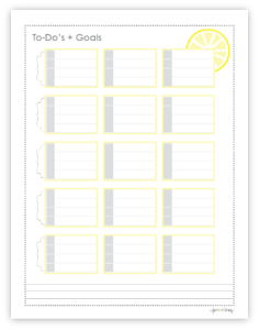 Sticky Note Template Checklist And Goal List In One Love This