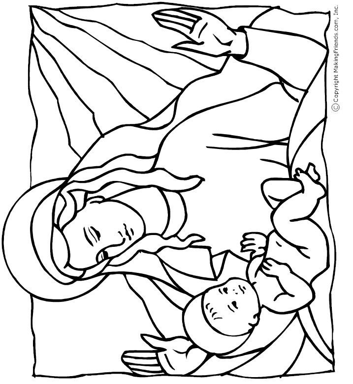 christmas coloring pages baby jesus - photo#19