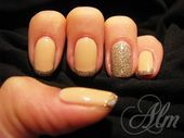 Photo of Gold French   Nail Art Gallery by NAILS Magazine