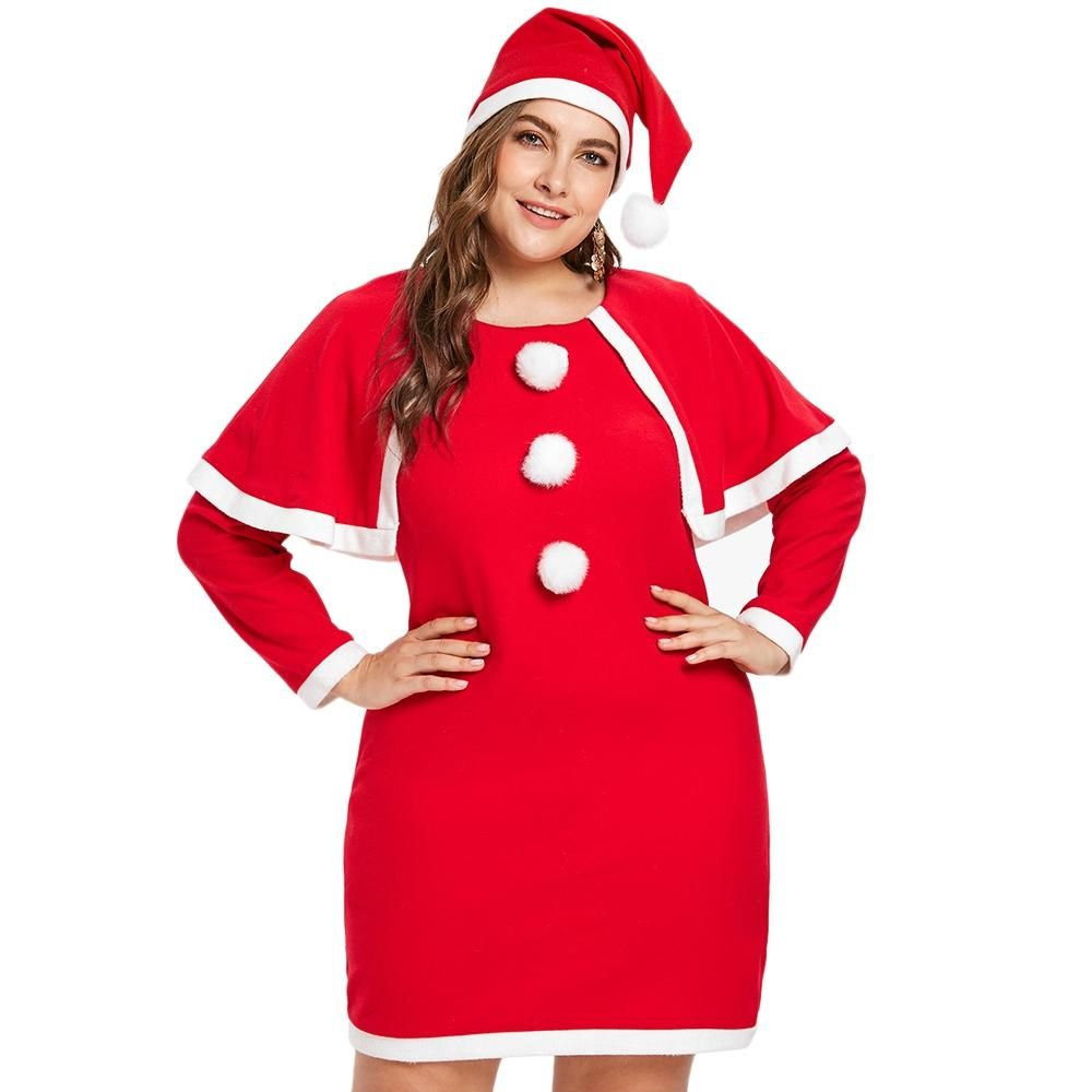 Plus Size Christmas Costumes.Plus Size Christmas Costume Dress With Hat Bestdress1 Plus Size