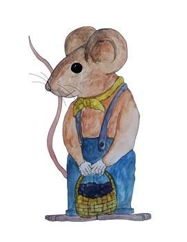 Town Mouse, Country Mouse Aesop's Fables watercolor clip ...
