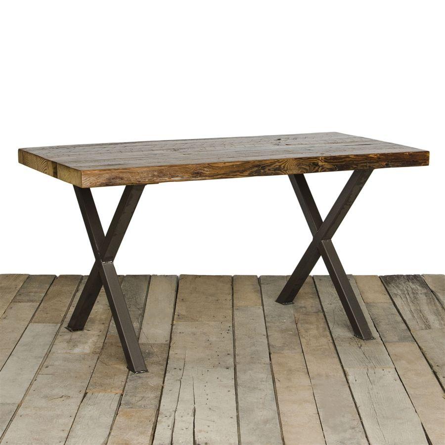 $1400 customizable Industrial Modern X Frame Reclaimed Wood Table ...