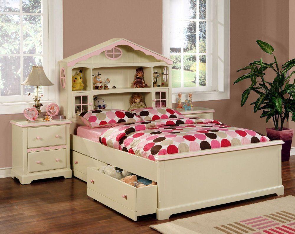 Powell muebles de casa de mu ecas cama habitaci n cons - Ver camas para ninos ...