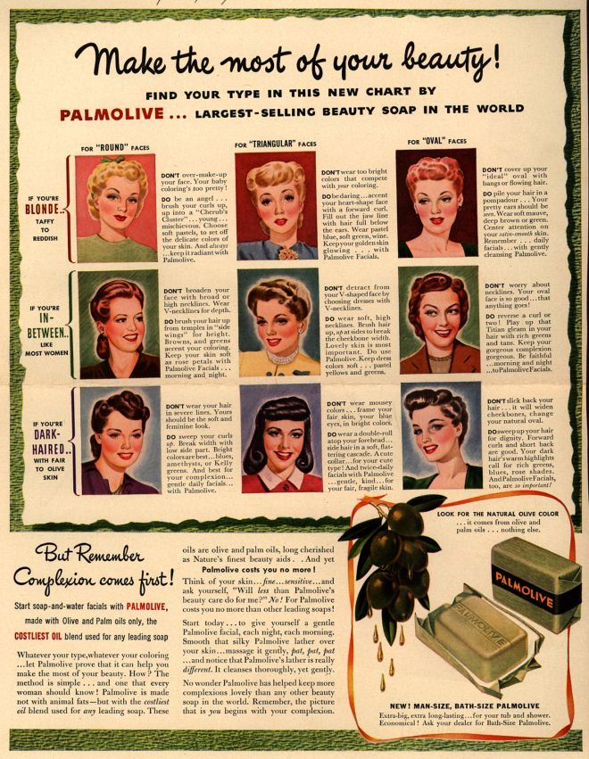 Make the most of your beauty! Palmolive ad, 1941