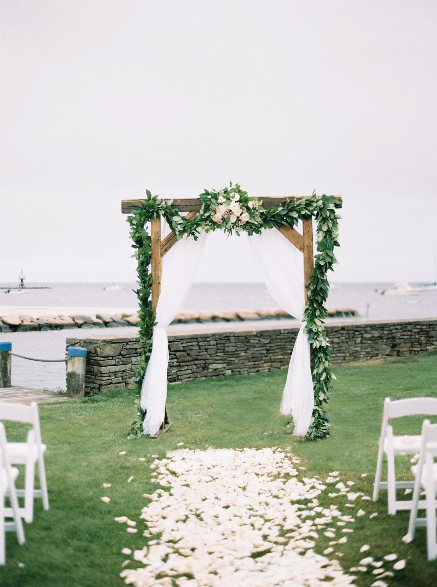 Brides Oceanfront Summer Wedding Wychmere Beach Club Longwood Venues Elizabeth Laduca Photography New England