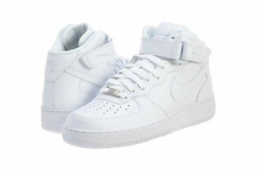 nike 315123 111: mens air force 1 metà 2007 scarpe da basket bianco