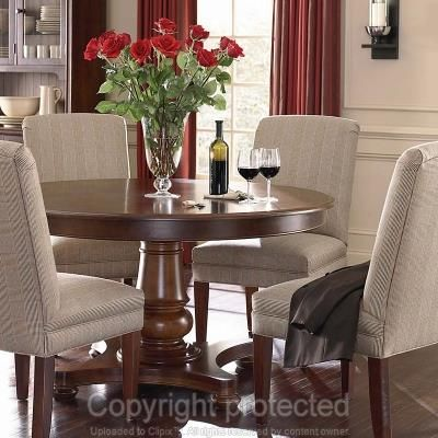 Bassett 4469-T54L Custom Dining 54 inch Round Pedestal Table