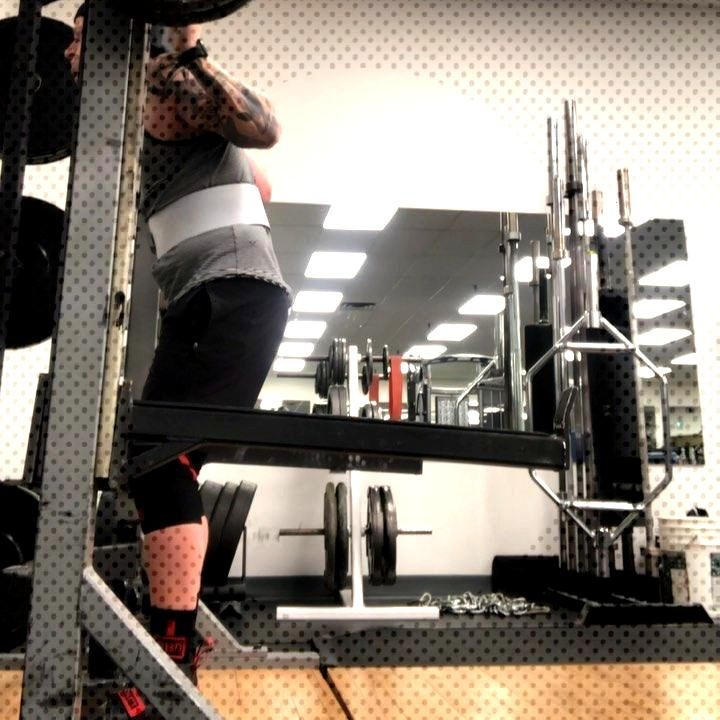 Last nights training. Squats 275lbs single, and a 5x3@250lbs. Bench press was a 5x3@205lbs. Sets 3