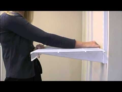 How To Install Rubbermaid Fasttrack Closet Installation Closet Redo Rubbermaid Closet Shelves