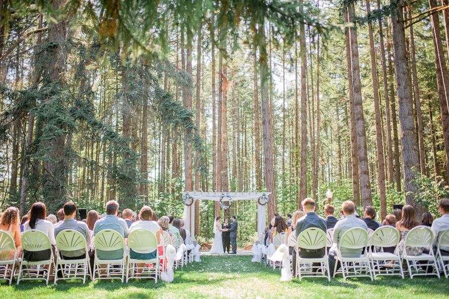 Wedding Planners Outdoor Ceremony In The Woods Deep Events Elmira Oregon Near Eugene