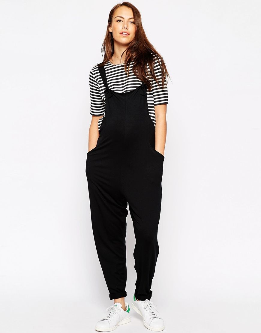 b355742bd71d Image 4 of ASOS Maternity Overall Jumpsuit In Jersey