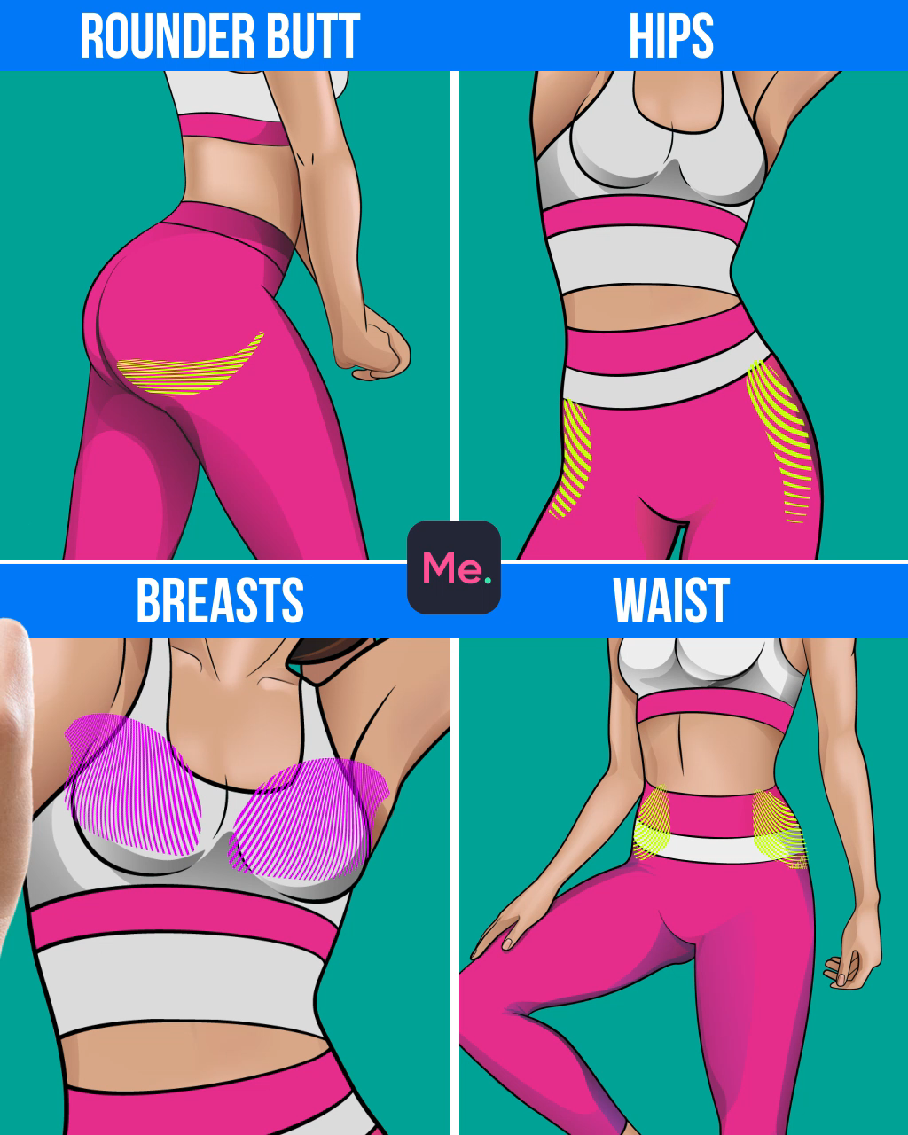 Try a workout for slimmer body!!! Each day - particular area! Only 4 weeks and you will have the sex...