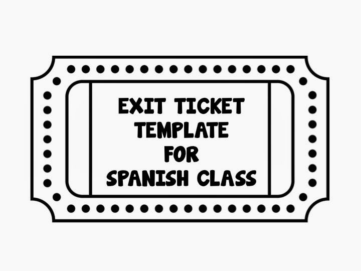 The  - Exit Ticket Template