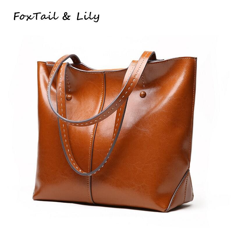 53f4c1718ef4 FoxTail   Lily Women Genuine Soft Leather Bags Designer Large Tote Shoulder  Bag Lady Luxury Fashion Brand Handbags High Quality  Affiliate