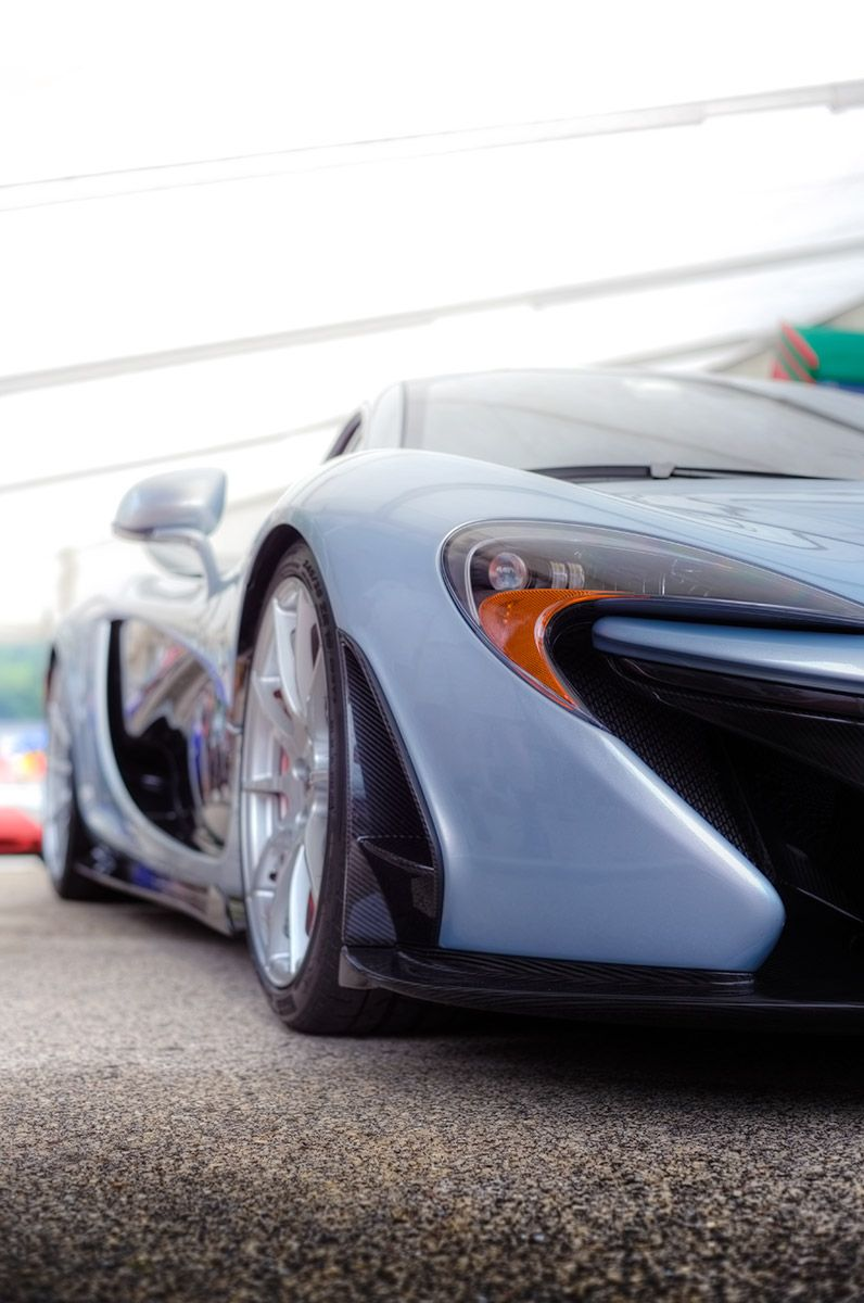 Delicieux Polaris Blue McLaren P1 Seen At Road Americau0027s Paddock