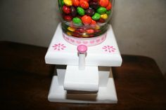 Custom Made Mason Jar Candy Dispenser