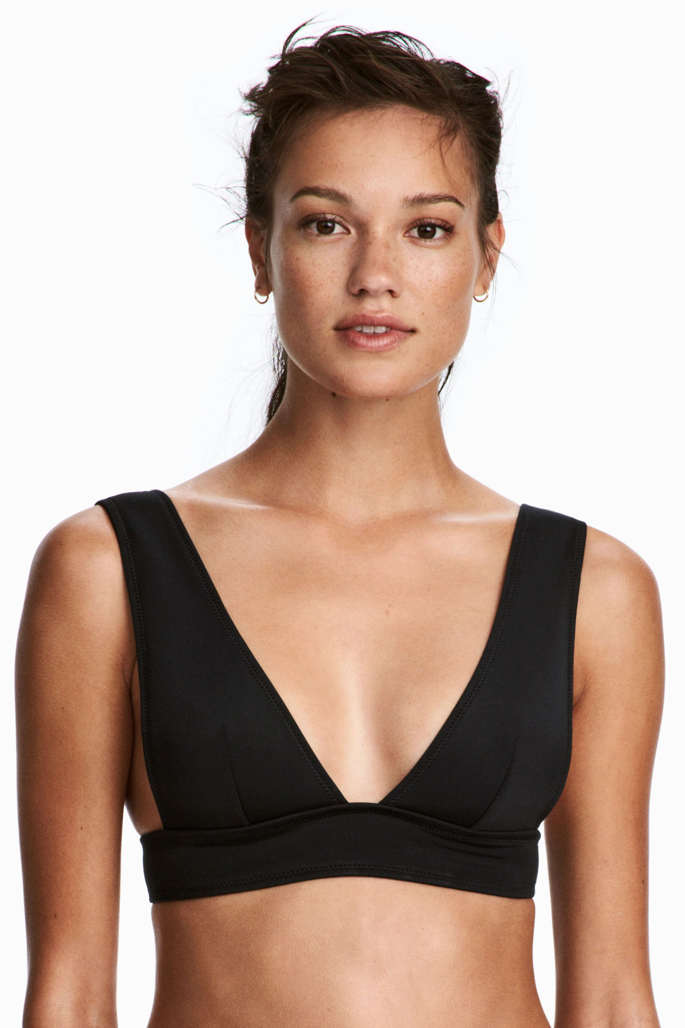 6e0e4c2e1efd6 Scuba-look Bikini Top | Swimmin' | Black bikini tops, Bikini tops ...